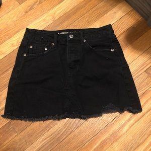 American Eagle Black Denim Skirt 4